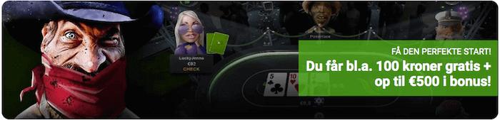 Prøv poker hos Unibet