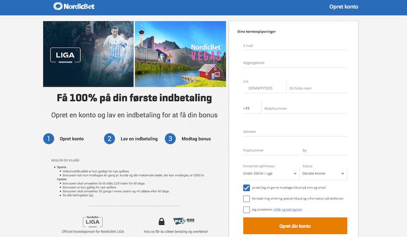 Opret NordicBet konto