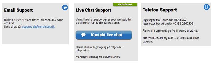 NordicBet kundeservice