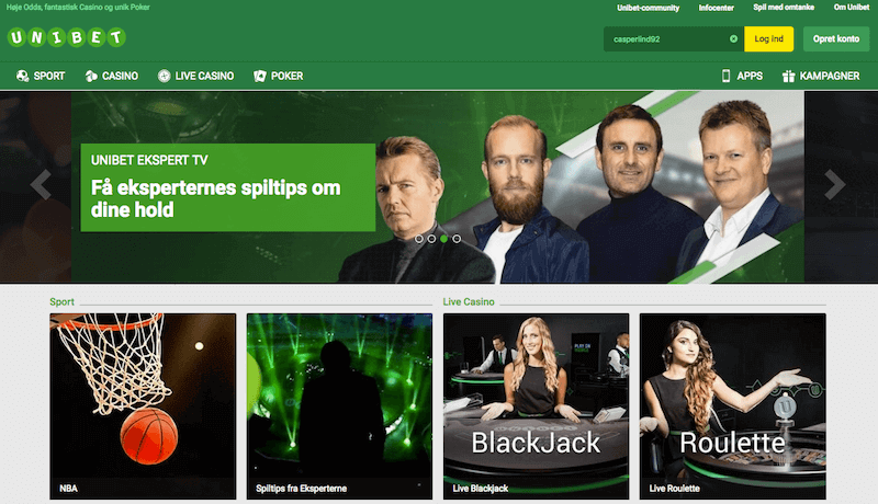 Unibet bookmaker i Danmark
