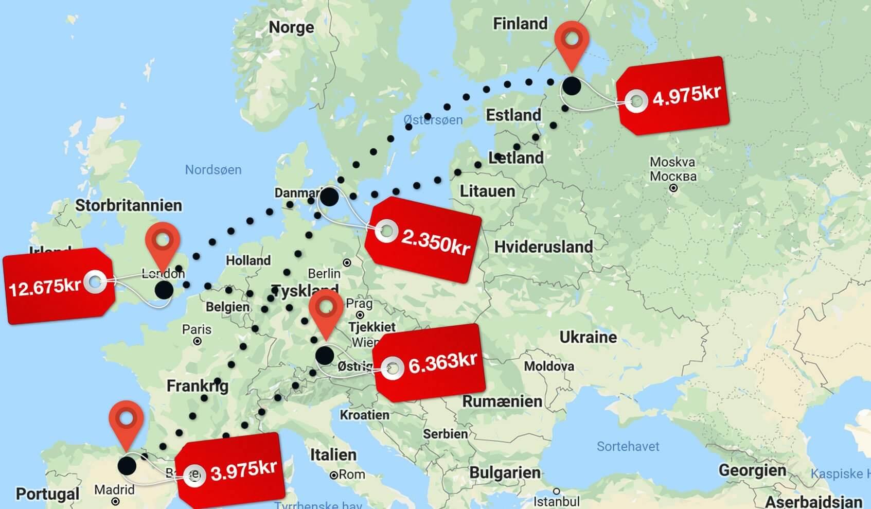 Så dyrt bliver det at følge Danmark til EM 2020